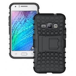 "Etui ""Dual Armor"" za Samsung Galaxy J1 (2016), črna barva"