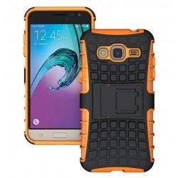 "Etui ""Dual Armor"" za Samsung Galaxy J3 (2016), oranžna barva"