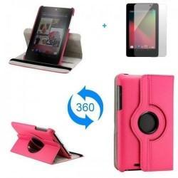 Torbica za Asus Nexus 7 Vrtljiva 360 Book Cover ,Pink barva
