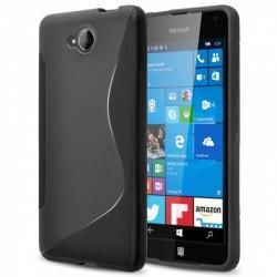 Silikon etui S za Microsoft Lumia 650, Črna barva