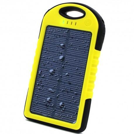 Prenosna Zunanja Baterija 6000 mAh -solarna,  Rumena barva