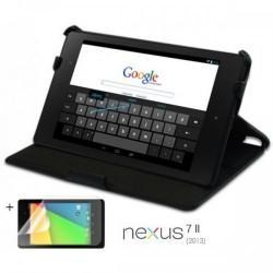 Torbica za Google Asus Nexus 7 II (2013)+Zaščitna folija ,Črna barva