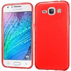 Silikon etui za Samsung Galaxy J1, 0,5mm, Rdeča barva