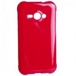 Silikon etui za Samsung Galaxy J1 (2016), 0,5mm, Rdeča barva
