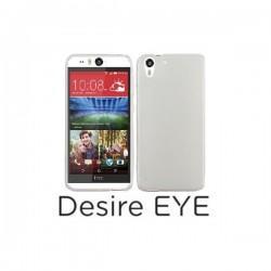 Silikon etui za HTC Desire Eye +Folija ekrana,Bela mat barva