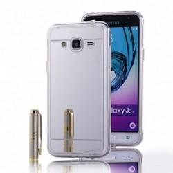 "Silikonski etui ""Mirror"" za Samsung Galaxy J3 (2016),  Srebrna barva"