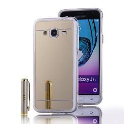 """Silikonski etui """"Mirror"""" za Samsung Galaxy J3 (2016),  Zlata barva"""
