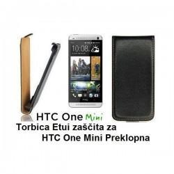 Torbica za HTC One Mini Preklopna, črna barva