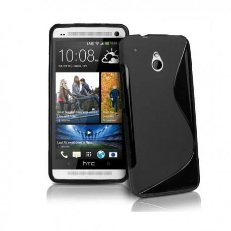 Silikon etui za HTC One Mini +Folija Gratis , Črna barva