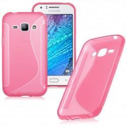 Silikonski etui S za Samsung Galaxy J1, Pink barva