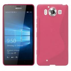Silikonski etui S za Microsoft Lumia 950, Pink barva