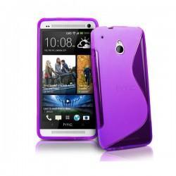 Silikon etui za HTC One Mini +Folija Gratis , Vijola barva