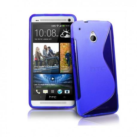 Silikon etui za HTC One Mini +Folija Gratis , Modra barva