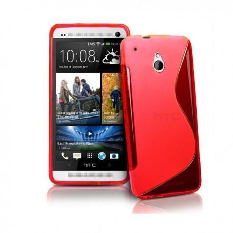Silikon etui za HTC One Mini +Folija Gratis , Rdeča barva