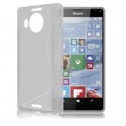 Silikonski etui S za Microsoft Lumia 950 XL +zaščitna folija zaslona, transparent barva