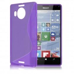 Silikonski etui S za Microsoft Lumia 950 XL +zaščitna folija zaslona, vijolična barva