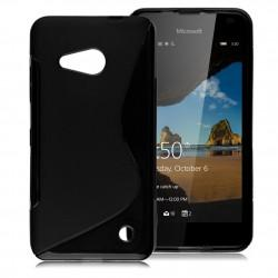 Silikonski etui S za Microsoft Lumia 550, Črna barva
