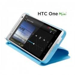 Torbica za HTC One Mini Flip case hard shell HC HC V851 Modra barva