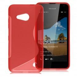 Silikonski etui S za Microsoft Lumia 550, Rdeča barva