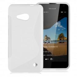 Silikonski etui S za Microsoft Lumia 550, Bela barva