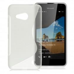 Silikonski etui S za Microsoft Lumia 550, Transparent barva