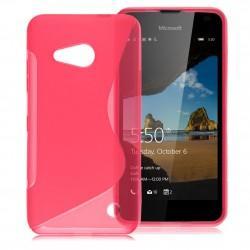 Silikonski etui S za Microsoft Lumia 550, Pink barva