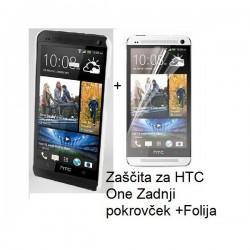 Etui za HTC One Zadnji pokrovček +Folija, bela barva