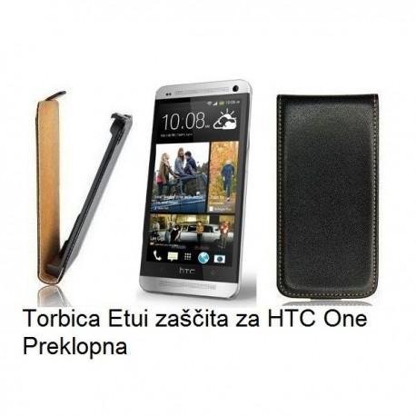 Torbica za HTC One Preklopna črna