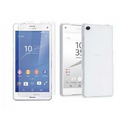 Silikonski etui za Sony Xperia Z5 Compact, Prozoren+ zaščitno steklo