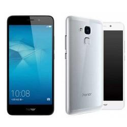 Silikonski etui za Huawei Honor 7 Lite, Prozoren+ zaščitno steklo