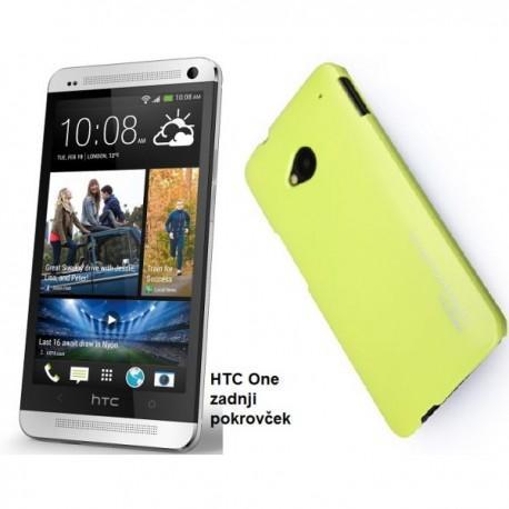 Etui za HTC One zadnji pokrovček Extra Shell Back Cover, rumena barva