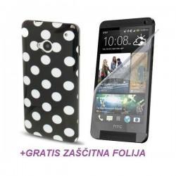 Silikon etui za HTC One +Folija Gratis , Črna barva DOT