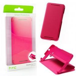 Torbica za HTC One HC V841 Flip case, pink barva