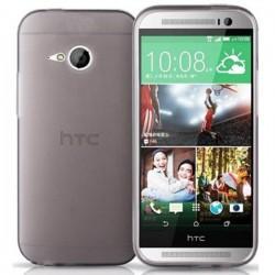 Silikon etui za HTC One M8 Mini 2 +Folija ekrana Prozorno temna barva