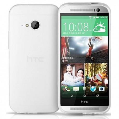 Silikon etui za HTC One M8 Mini 2 +Folija ekrana Prozorno Bela barva