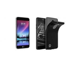 Silikonski etui, črna barva+ zaščitno steklo - LG K4 2017