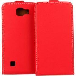 "Preklopna torbica, etui ""flexi"", rdeča barva - LG K3"