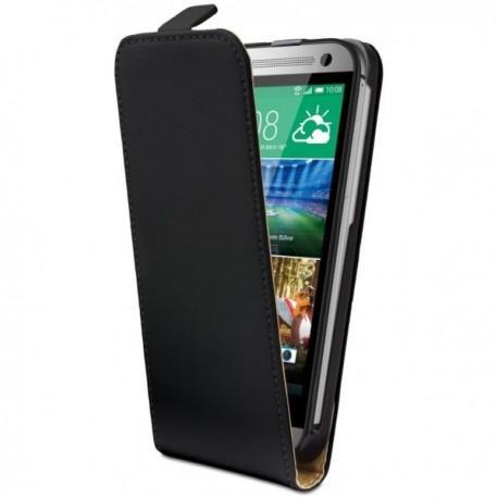 Torbica za HTC One M8 Mini Preklopna Črna barva+Folija ekrana