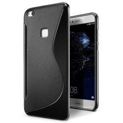 "Silikonski etui ""S"" za Huawei P10 Lite, črna barva"