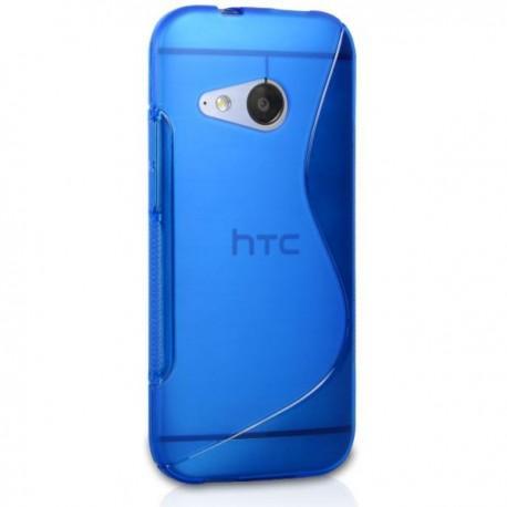 Silikon etui za HTC One M8 Mini +Folija ekrana Modra barva