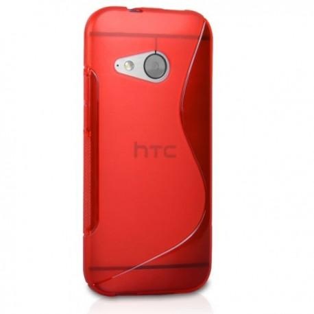 Silikon etui za HTC One M8 Mini +Folija ekrana Rdeča barva