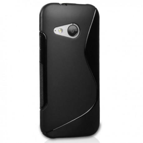 Silikon etui za HTC One M8 Mini +Folija ekrana Črna barva