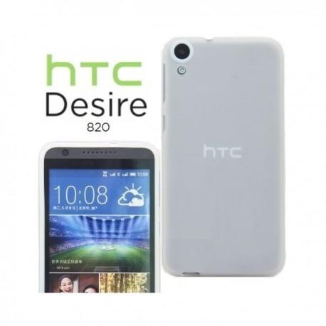 Silikon etui za HTC Desire 820 +Folija ekrana Bela mat barva