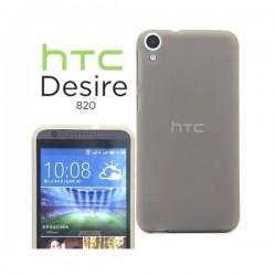 Silikon etui za HTC Desire 820 +Folija ekrana Temna barva