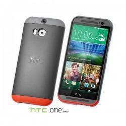Etui za HTC One M8 Hard Shell Double Dip HC C940 Zadnji pokrovček,Dark Grey