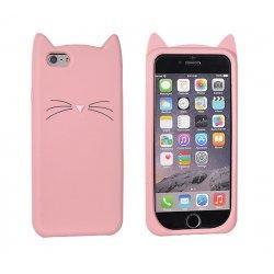 "Silikonski ovitek, etui ""Funny Cat"" za Huawei P9 Lite, Pink barva"