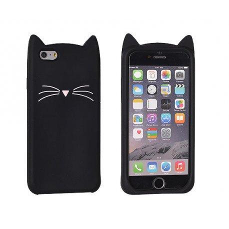 """Silikonski ovitek, etui """"Funny Cat"""" za Huawei P9 Lite, Črna barva"""