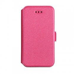 """Preklopna torbica, etui """"Slim"""" za LG K10 2017, Pink barva"""