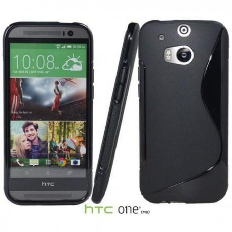 Silikon etui za HTC One M8 (2014) Črna barva