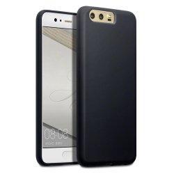 """Silikonski etui """"Slim"""" 0,5mm, Črna barva-Huawei P10"""